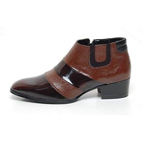 3c0750b94504 EpicStep Men's Genuine Leather Shoes Dress Formal Business Casual Two Tone  Ankle Boots