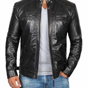 Ruja Mens Motorbike Club Style Classic Genuine Leather Vest