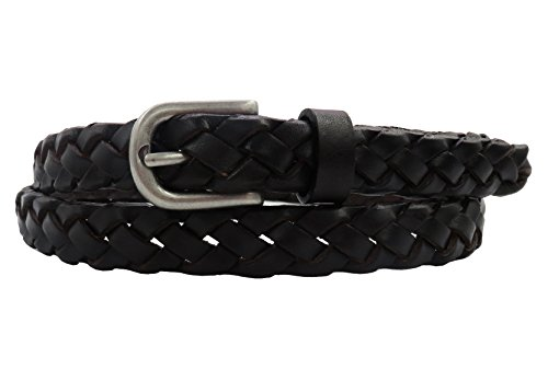 49e402c43 Women's Leather Belt Skinny Waist Belts Full Grain Vintage Hand Braided  Jeans/Dress