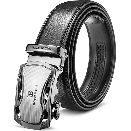 Leather Ratchet Belts for Men with Removable Buckle-Big and Tall Size